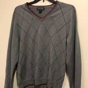 Brooks Brothers argyle sweater w small holes
